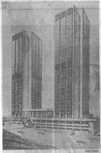 Original Complex Rendering (Source: Richmond Times Dispatch Photo from 1975)