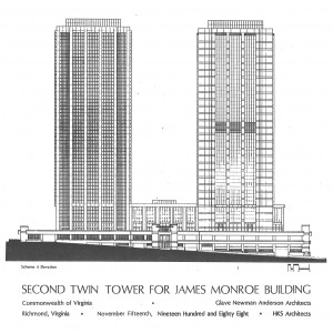 2nd Tower Proposal, Elevation A Drawing (Source: 1988 State of Virginia Feasibility Study)
