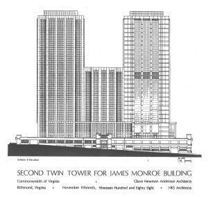 2nd Tower Proposal, Elevation B Drawing (Source: 1988 State of Virginia Feasibility Study)
